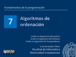 Tema 7 - Facultad de Informática