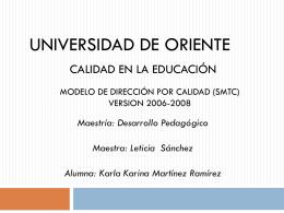 MODELO DE DIRECCIÓN POR CALIDAD (SMTC).