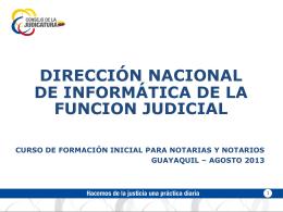 Presentación del Sistema Informático Notarial (Fines didácticos)
