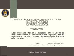 Angel Negrón - enin 2014 - Universidad Metropolitana de Ciencias