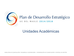 PDE 2014-2018 Unidades Académicas