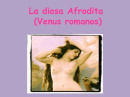 La diosa Afrodita (Venus romanos)
