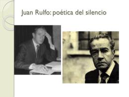 Juan Rulfo: poética del silencio