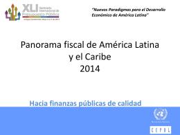 Panorama fiscal de América Latina y el Caribe 2014