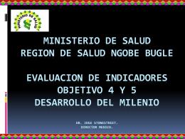 MINISTERIO DE SALUD REGION DE SALUD NGOBE BUGLE