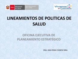 POLITICAS DE SALUD - direccion de salud v