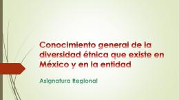 Conocimiento general de la diversidad étnica que existe en México