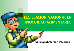 (Anexo, DL N° 1062, Ley de Inocuidad de los Alimentos).