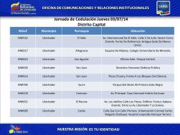 Jornada de Cedulación Jueves 03/07/2014