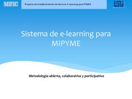 Sistema de e-learning para MIPYME