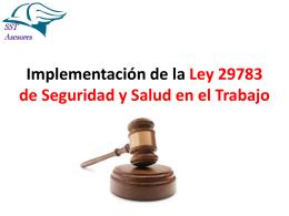 Implementación de la Ley 29783