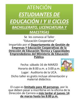 ATENCIÓN ESTUDIANTES DE EDUCACIÓN PREESCOLAR