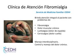 Clínica de atención Fibromialgia