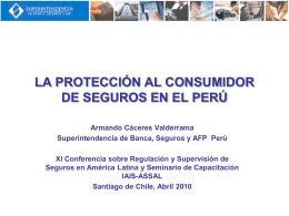LA PROTECCIÓN AL CONSUMIDOR DE SEGUROS EN