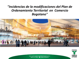 """Incidencias de la modificaciones del Plan de Ordenamiento"