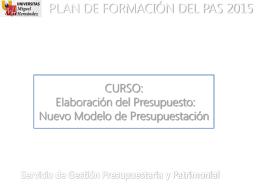 PLAN DE FORMACIÓN DEL PAS 2013