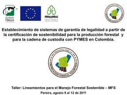 Presentación de PowerPoint - Proyecto Gobernanza Forestal