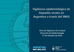Actualización I : Vigilancia de las Hepatitis virales.