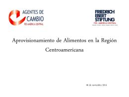 Aprovisionamiento de Alimentos en la Región Centroamericana