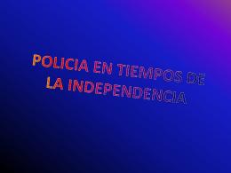 LA POLICIA EN TIEMPOS DE LA REVOLUCION