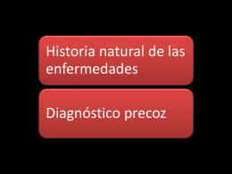 Diagnostico precoz