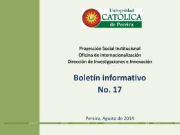 boletin_17_convocato.. - Universidad Católica de Pereira