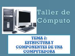 ¿Qué es una computadora?
