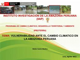 Diapositiva 1 - Observatorio de Cambio Climático