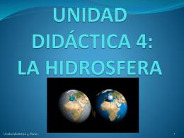 Unidad didáctica 4, La hidrosfera, Parte 1