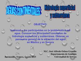 HIDROGEOLOGIA - Universidad de Sonora