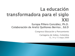 Europa Pineiro-La educación transformadora para el siglo XXI 2