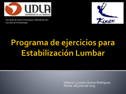 Estabilizacion Lumbar