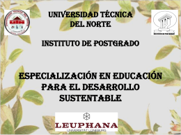 UNIVERSIDAD TÉCNICA DEL NORTE INSTITUTO DE