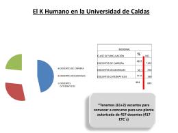 El K Humano en la Universidad de Caldas