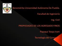 Benemérita Universidad Autónoma De Puebla. Facultad de