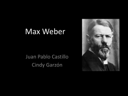 Max Weber - teoriasdelestado