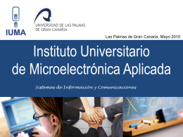 IUMA PRESENTATION WIN an - Instituto Universitario de