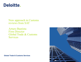 Auturo Bautista, Director of Deoitte Mexico`s Foreign Trade Practice