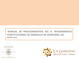 Organigrama manual proce 2014