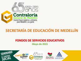 Fondos de Servicios Educativos 2015