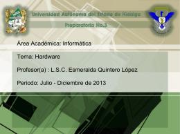 Hardware (1) - Universidad Autónoma del Estado de Hidalgo