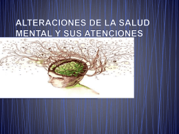 5. Alteraciones Salud Mental
