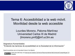 TEMA 5: ACCESIBILIDAD A LA WEB MÓVIL. MOVILIDAD