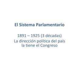 El Sistema Parlamentario