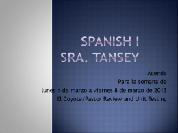 Agenda Sp I week 9 3.4 to 3.8.13 pastor coyote rvw