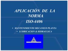 Control de la Contaminación Mediante la Norma ISO 4406