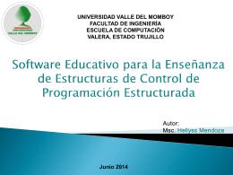 Software Educativo para la Enseñanza de Estructuras de Control de