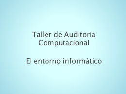 Auditoria de Sistemas Control Interno Informático