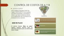 CONTROL DE COSTOS DE A Y B