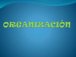 ¿que es organización?